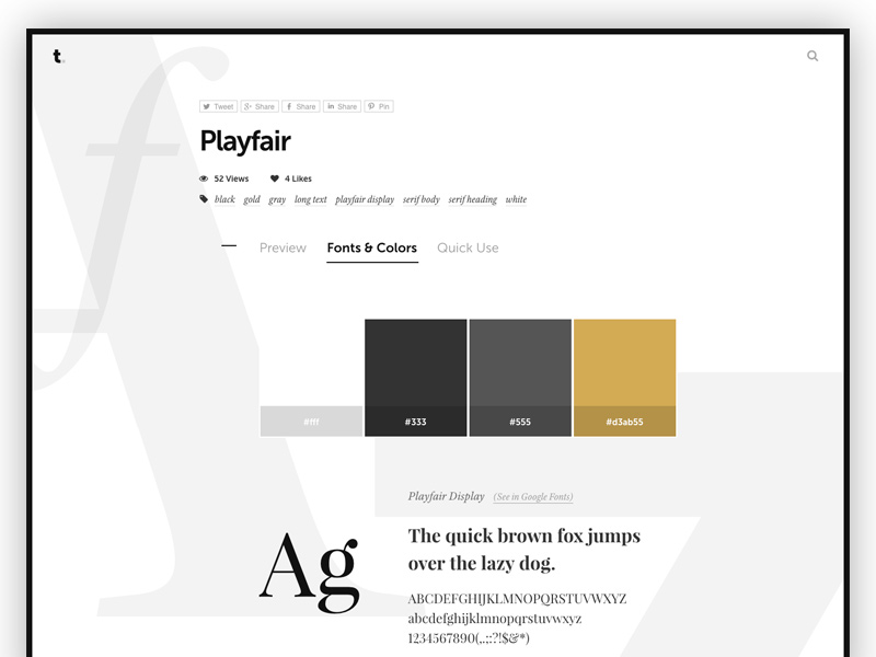 Typespirationcom A Showcase Of Web Typography Designs With Ready