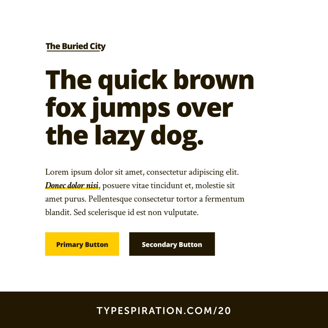 The Buried City - typespiration com